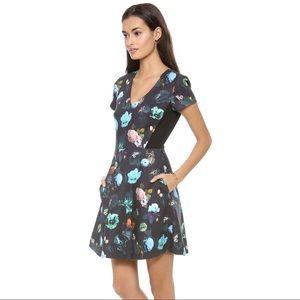 Club Monaco Aurelie Floral Fit and Flare Dress